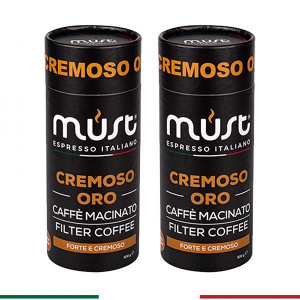 2 x 500 gr Cremoso Oro Filtre Kahve