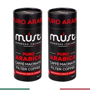 2 x 500 gr Puro Arabica Filtre Kahve